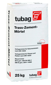 Quick-Mix Trass-Zement-Mörtel TZM10 25kg 48 Sack je Palette 4mm