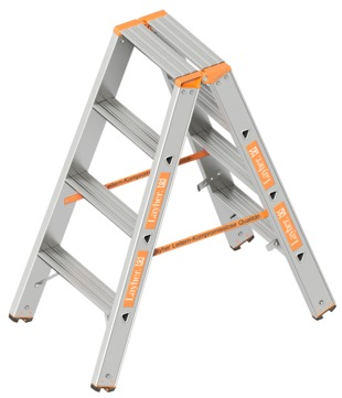 Layher Steigtechnik Doppelstufenleiter Topic 4 Stufen 1. 043. 004 Alu