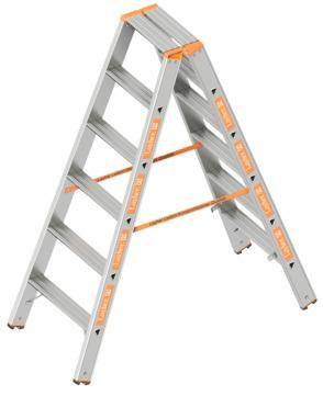 Layher Steigtechnik Doppelstufenleiter Topic 6 Stufen 1. 043. 006 Alu