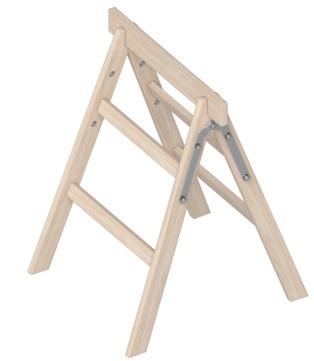 Layher Steigtechnik Tapezierbock 2 Sprossen 800 mm Holz