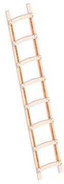 Layher Steigtechnik Dachleiter 1046 8 Sprossen Länge 2,30 m Holz