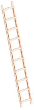 Layher Steigtechnik Dachleiter 1046 10 Sprossen Länge 2,85 m Holz