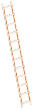 Layher Steigtechnik Dachleiter 1046 12 Sprossen Länge 3,40 m Holz