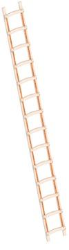 Layher Steigtechnik Dachleiter 1046 14 Sprossen Länge 3,95 m Holz