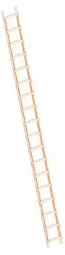 Layher Steigtechnik Dachleiter 1046 18 Sprossen Länge 5,05 m Holz