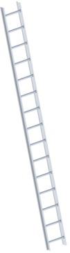 Layher Steigtechnik Dachleiter 1051 15 Sprossen Alu Länge 4,20m Topic Natur