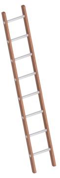 Layher Steigtechnik Verbundanlegeleiter 1029 8 Sprossen Holz