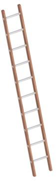 Layher Steigtechnik Verbundanlegeleiter 1029 10 Sprossen Holz