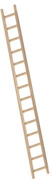 Layher Steigtechnik Anlegeleiter 1036 14 Sprossen Holz