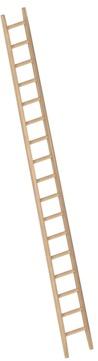 Layher Steigtechnik Anlegeleiter 1036 17 Sprossen Holz