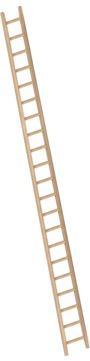 Layher Steigtechnik Anlegeleiter 1036 21 Sprossen Holz