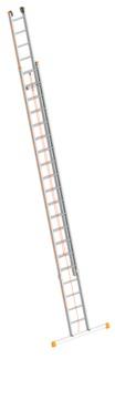 Layher Steigtechnik Seilzugleiter 1037 2x20 Sprossen Länge 5,65-10,15m Topic mit Traverse Aluminium