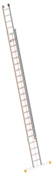 Layher Steigtechnik Seilzugleiter 1037 2x22 Sprossen Länge 6,20-11,30 m, Topic mit Traverse Aluminium