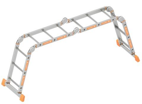 Layher Steigtechnik Kofferraumleiter 4x3 Sprossen Alu
