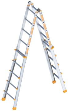 Layher Steigtechnik Teleskopleiter 1058 4x5 Sprossen Alu