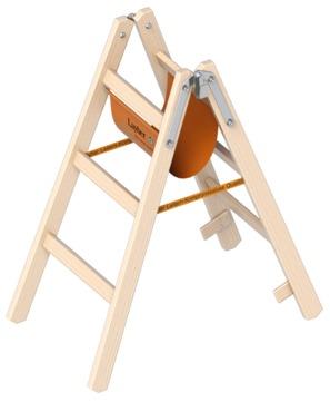 Layher Steigtechnik Stehleiter 1038 2x3 Sprossen Länge 1,00m Holz