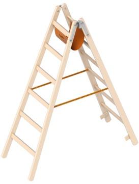Layher Steigtechnik Stehleiter 1038 2x6 Sprossen Länge 1,85m Holz