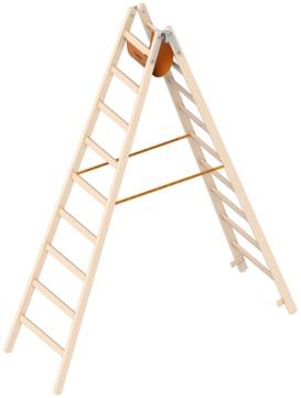 Layher Steigtechnik Stehleiter 1038 2x9 Sprossen Länge 2,65m Holz