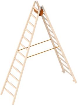 Layher Steigtechnik Stehleiter 1038 12 Sprossen 1053212 Ö-Norn Holz