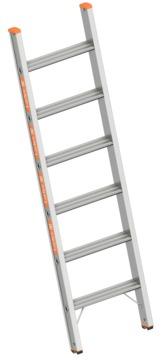 Layher Steigtechnik Stufenanlegeleiter 1042 6 Stufen Länge 1,65m Topic Aluminium