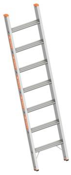 Layher Steigtechnik Stufenanlegeleiter 1042 7 Stufen Topic 1,95m ohne Traverse Alu