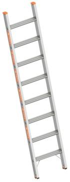 Layher Steigtechnik Stufenanlegeleiter 1042 8 Stufen Topic 2,20m ohne Traverse Alu