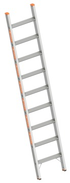 Layher Steigtechnik Stufenanlegeleiter 1042 9 Stufen Topic 2,45m ohne Traverse Alu