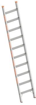 Layher Steigtechnik Stufenanlegeleiter 1042 10 Stufen Topic 2,70m ohne Traverse Alu