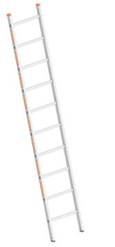 Layher Steigtechnik Anlegeleiter 1054 10 Sprossen Topic Länge 2,80m Aluminium