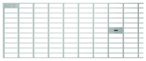 ACO Passavant Profiline Maschenrost 50/15 cm 320457 Bauhöhe 30 cm Verzinkt