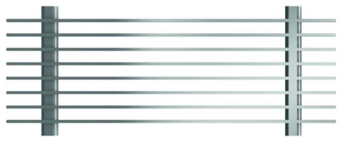 ACO Passavant Profiline Längsstabrost 100/15 cm 320460 Bauhöhe 30 cm Verzinkt