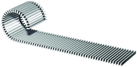 ACO Passavant Rollrost 110x497 mm 9106. 10. 05 Variant CR für Rinne Kasten Sanitär PVC Grau