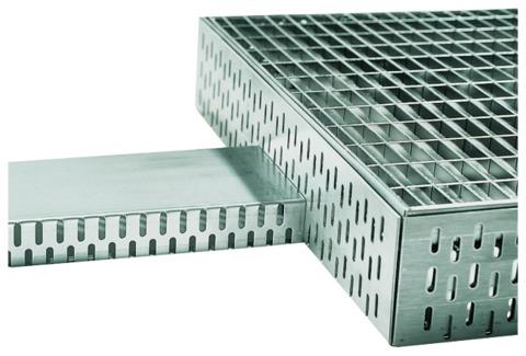 ACO Hochbau Profiline Aufsatz 25x25 cm für Dachablauf Bauhöhe 7,8-10,8 cm ohne Rost Verzinkt