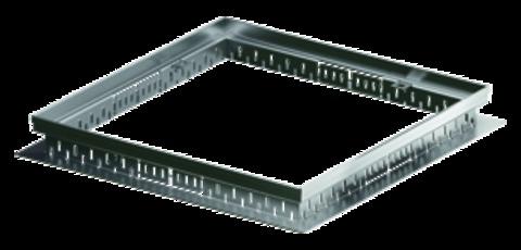 ACO Hochbau Profiline Aufsatz 30x30 cm für Dachablauf Bauhöhe 7,8-10,8 cm ohne Rost Verzinkt