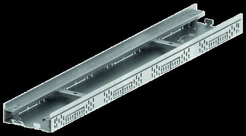 ACO Hochbau Profiline 15,5 cm 1,0 m mit Kiesleiste ohne Rost Bauhöhe 5,5-7,8cm Verzinkt