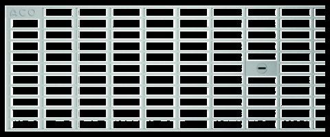 ACO Hochbau Profiline Maschenrost 0,5m 15 cm Maschenweite 30x10 mm für Baubreite 15,5 cm Verzinkt