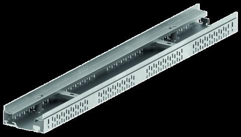 ACO Hochbau ProfiLine 13cm 0,5m Typ I 36940 mit Kiesleiste ohne Rost 5,5-7,8cm Verzinkt