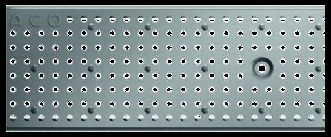ACO Hochbau Profiline Lochrost 100/13 cm begehbar komplett mit Arretierungsbolzen Verzinkt