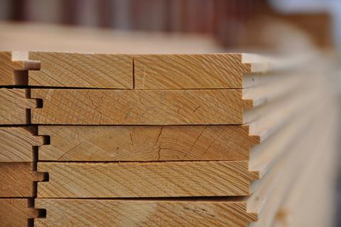 Holz Rauspund 24/136 mm getrocknet Fichte / Tanne Güteklasse II/IV mit Keil Nut/Feder Länge 4,50 m