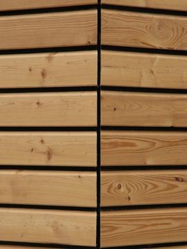 Holz Trendliner elegant 27x96 mm A/B Nut/Feder gehobelt inklusive schwarze Kontrastfeder Länge 4,00 m