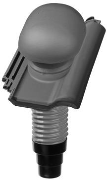 Nelskamp F10 Ü Dunstrohrziegel Ton komplett DN 125 Altschwarz engobiert
