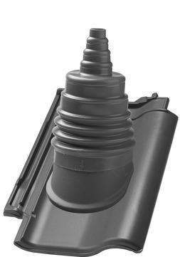 Nelskamp F12 Ü Antennenziegel Ton Süd Schwarz glasiert