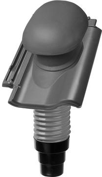 Nelskamp F12 Ü Dunstrohrziegel Ton komplett DN 125 Süd Schwarz glasiert
