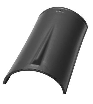 Nelskamp Firstziegel 2,7 Stück/m Schwarz edelengobiert