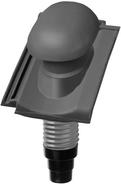 Nelskamp R 13 S Dunstrohrziegel Ton komplett DN 125 Anthrazitgrau engobiert