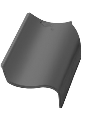 Nelskamp Hohlziegel Geradschnitt Ortgang rechts Außensteg Naturrot schwach reduziert