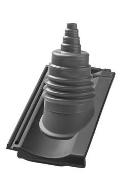 Nelskamp R13S Antennenziegel Ton Anthrazitgrau engobiert
