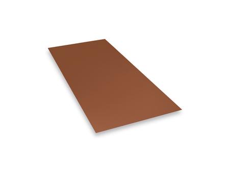 PREFA Tafel 0,70mm 1000x2000mm Polyester 3,85kg/Tafel ziegelrot/oxydrot