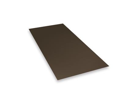 PREFA Tafel 0,70 mm 1000x2000 mm Polyester 4,05 kg/Tafel Schutzfolie Anthrazitbraun