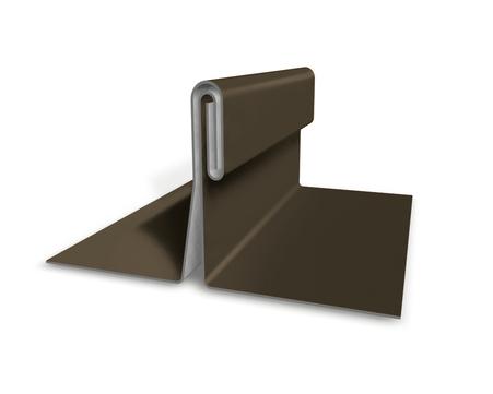 PREFA Band 0,70/650mm P.10 glatt Prefalz 60kg je Rolle ca.49m Braun